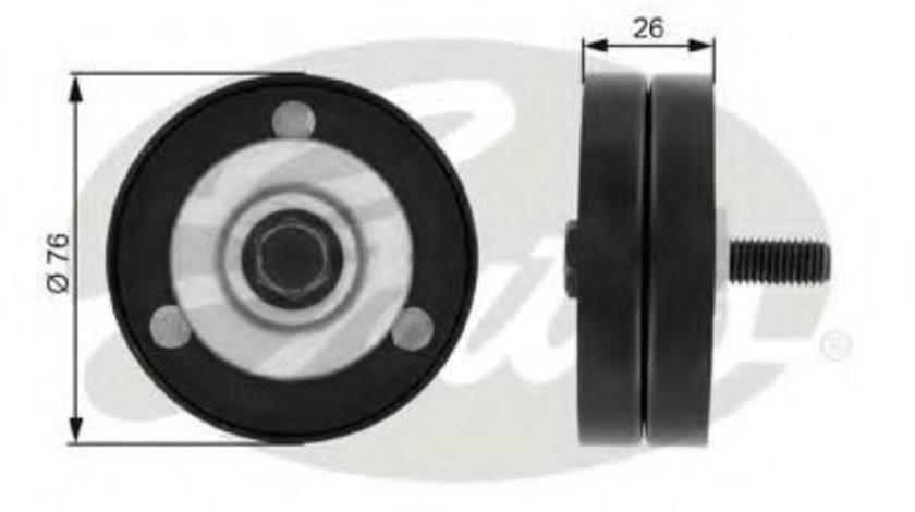 Rola ghidare/conducere, curea transmisie OPEL ASTRA H (L48) (2004 - 2016) GATES T36182 - produs NOU