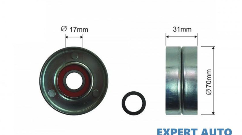 Rola intinzatoare curea transmisie Toyota MATRIX (2001-2007)[ (ZZE13_)] #1 16620-0H020