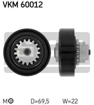 rola intinzator curea alternator CHEVROLET AVEO hatchback T250 T255 SKF VKM 60012