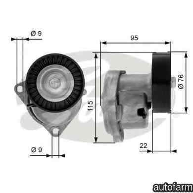 rola intinzator curea alternator KIA CARNIVAL I (UP) GATES T38448