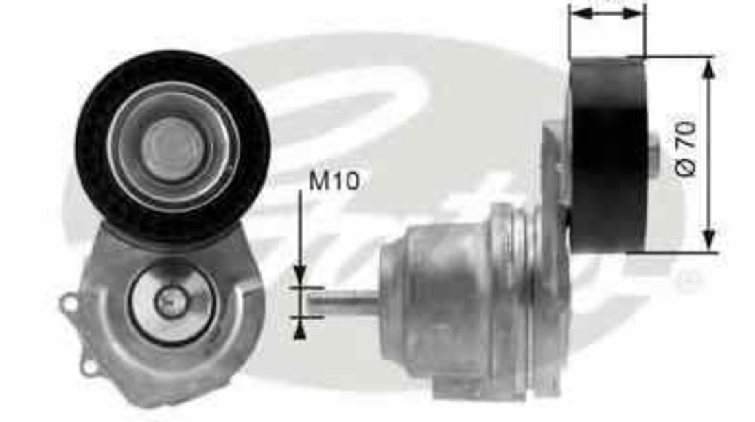 rola intinzator curea alternator OPEL ASTRA GTC J GATES T38498