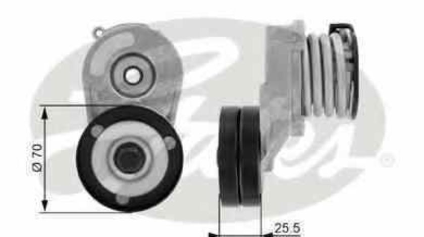 rola intinzator curea alternator OPEL COMBO Tour GATES T38432