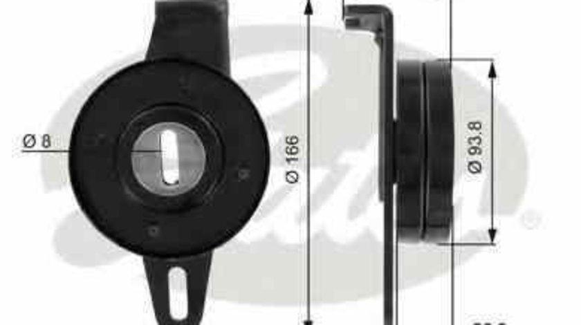 rola intinzator curea alternator PEUGEOT BOXER bus (230P) GATES T36023