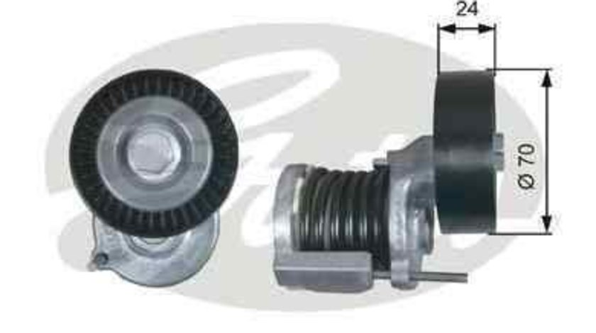 Rola intinzator curea alternator SKODA FABIA (6Y2) Producator GATES T38427