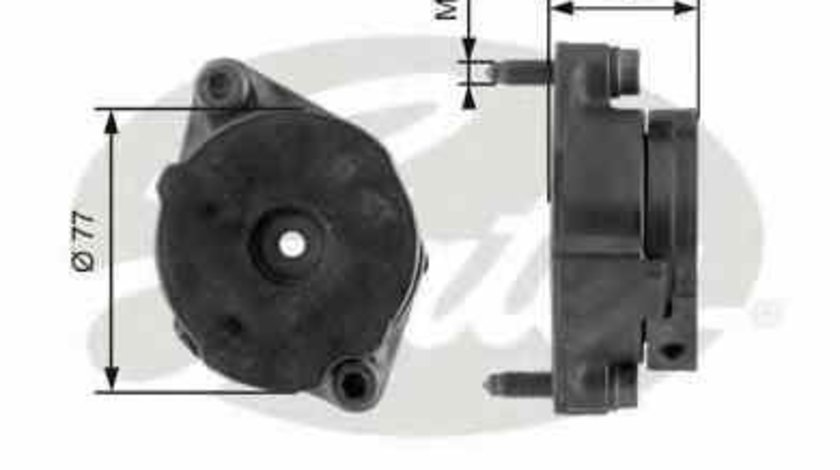 rola intinzator curea alternator VW GOLF III Cabriolet (1E7) GATES T38345