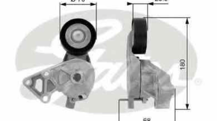 rola intinzator curea alternator VW GOLF IV (1J1) GATES T38307
