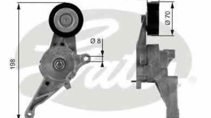 rola intinzator curea alternator VW GOLF V Variant (1K5) GATES T38436