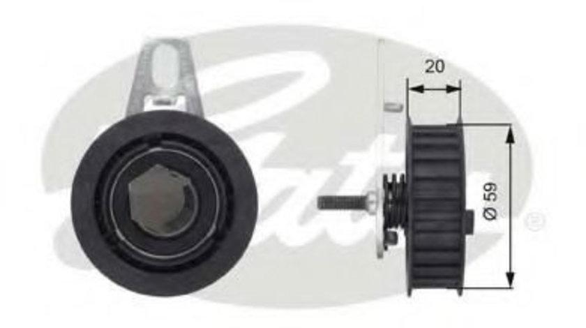 Rola intinzator,curea distributie ALFA ROMEO 147 (937) (2000 - 2010) GATES T43108 piesa NOUA
