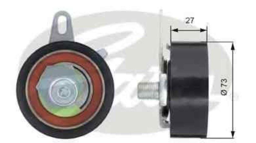rola intinzator,curea distributie AUDI A4 (8E2, B6) GATES T43036