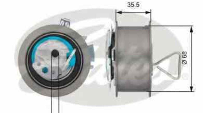 rola intinzator curea distributie AUDI A4 Avant 8ED B7 GATES T43091