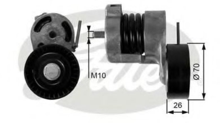 Rola intinzator,curea transmisie BMW Seria 3 Cupe (E46) (1999 - 2006) GATES T39010 - produs NOU