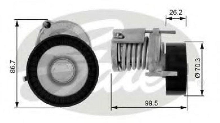 Rola intinzator,curea transmisie VW GOLF IV Variant (1J5) (1999 - 2006) GATES T38214 - produs NOU
