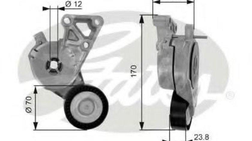 Rola intinzator,curea transmisie VW GOLF VI (5K1) (2008 - 2013) GATES T38148 - produs NOU