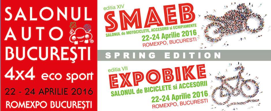 Romexpo 22-24 Aprilie: SAB, SMAEB si EXPOBIKE prezinta cel mai tare week-end auto-moto-sport