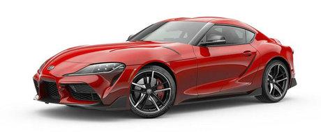 Rosu-i fix ce trebuie, dar Toyota ofera si alte culori tari pentru noua Supra. FOTO ca sa te convingi si singur