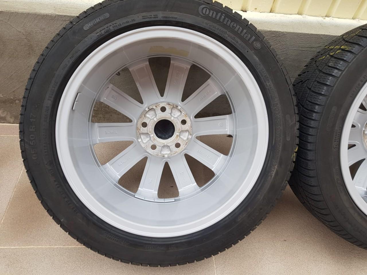 Roti Iarna 17 inch Originale VW Passat B6 B7 CC Scirocco EOS Jetta Golf 5 6 7 Touran 205/50 R17
