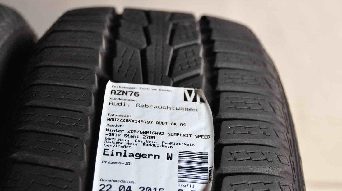 Roti Iarna Tabla 16 inch Audi A4 8K B8 Semperit 205/60/R16