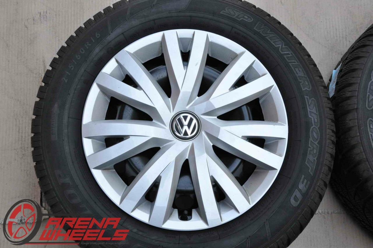Roti Iarna Tabla 16 inch Originale VW Beetle Passat Skoda Superb Dunlop 215/60 R16