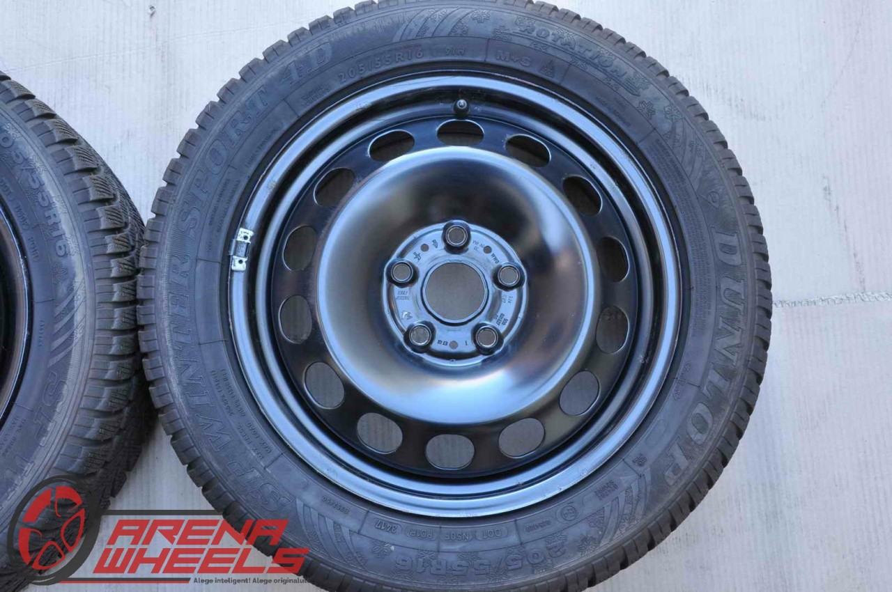 Roti Iarna Tabla Originale VW Golf 6 7 Caddy Touran Audi A3 Skoda Octavia Seat Leon Altea 205/55 R16