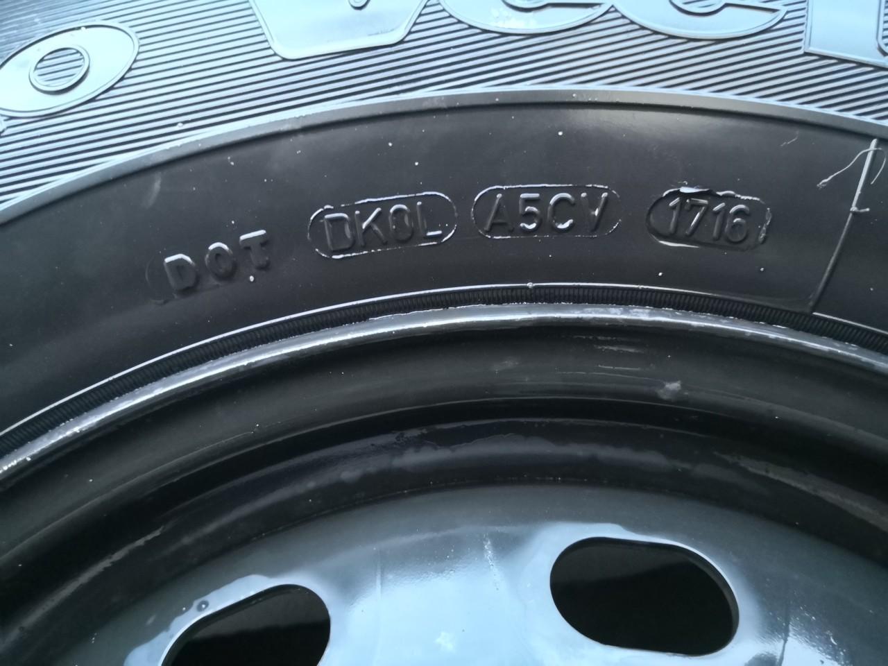 Roti jante+anvelope 215 65 16C, Good year cargo van profil intre 5.5 - 8 mm dot 1716 + 4 capace.