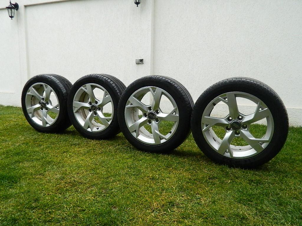 Roti ,Jante Audi A6,A4,TT pe 17' originale cu anvelope vara Michelin