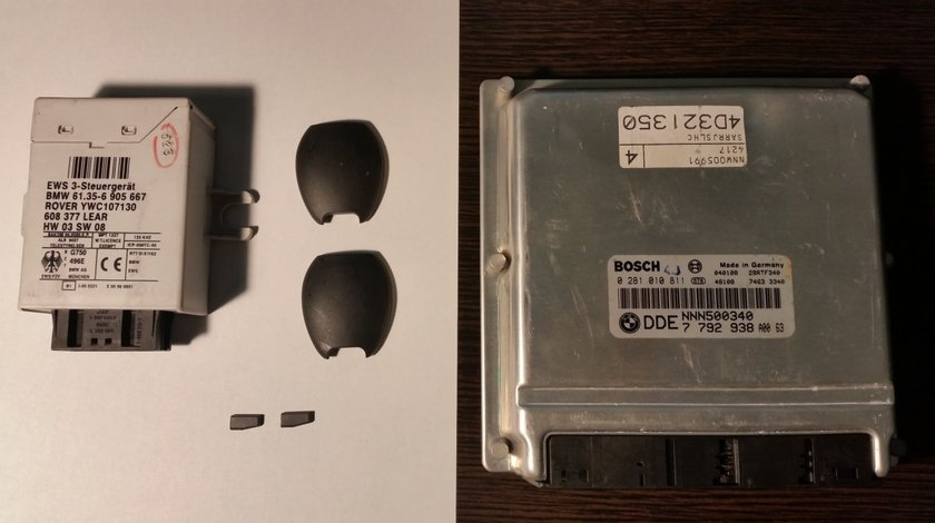 Rover 75 - 2 x Chip cheie + Calculator (ECU) + Imobilizator