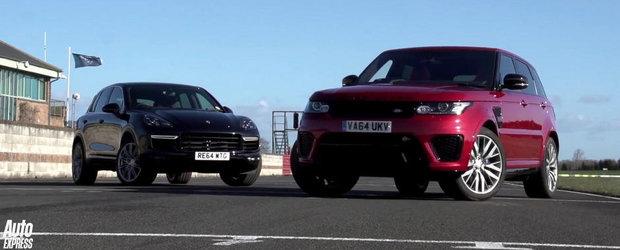 RR Sport SVR si Cayenne Turbo isi dau intalnire intr-un duel al Super-SUV-urilor