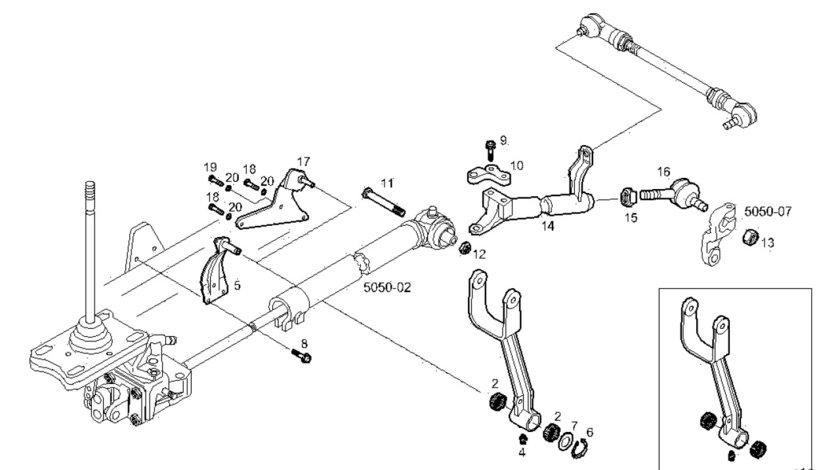 Rulment cu ace levier schimbator viteze Iveco Eurocargo 12 tone (poz.2) IVECO OE 98417479