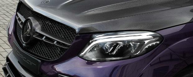 Rupe gura targului cu SUV-ul sau tunat. Are motor V8, fibra de carbon, jante pe 22 si culoare de Porsche