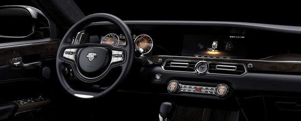 Rusii au lansat o masina care concureaza cu S-Class, iar interiorul e super-spectaculos. FOTO