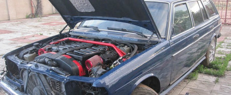 Rusii au montat un motor de Zonda sub capota acestui Mercedes W123. Cati CP are acum masina germana