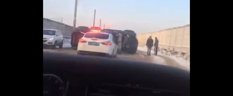 Rusii au reusit performanta de a rasturna un Mercedes G63 6x6