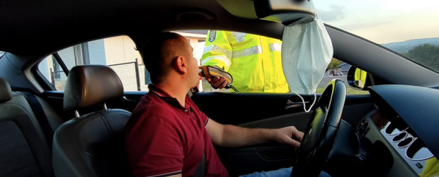 S-a dezinfectat cu spirt pe maini, insa politistul care l-a oprit in trafic a crezut ca a baut alcool. Ce a indicat testarea cu etilotestul