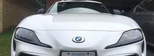 S-a facut dreptate! Cineva a pus embleme de BMW pe o Toyota Supra de ultima generatie