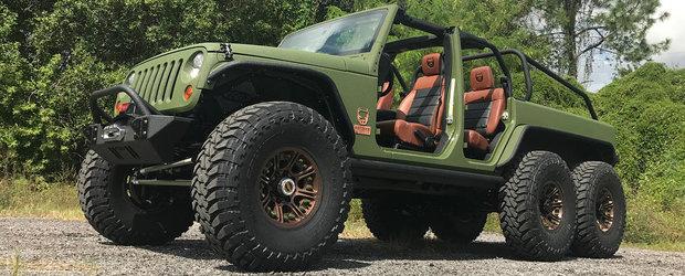 """S-au """"jucat"""" in garaj cu noul Jeep Wrangler pana ce-au scos acest monstru"""