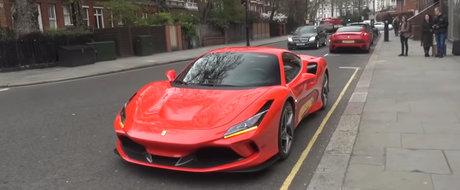 S-au strans ca la urs sa vada PE VIU noul Ferrari F8 Tributo. VIDEO
