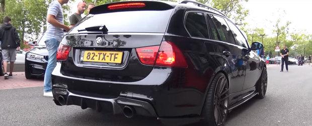 Sa fie asta cel mai nebun BMW E91? Are 900 de cai putere sub capota si suna incredibil