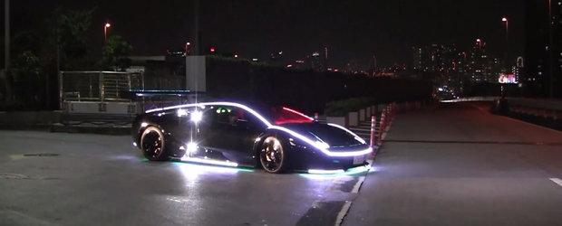 Sa impopotonezi un Lamborghini cu zeci de luminite... e ceva normal in Japonia