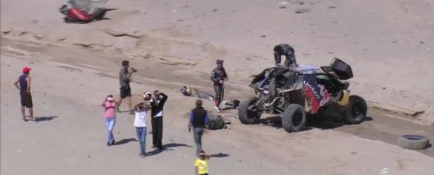 Sa pierzi jumatate din masina de concurs la Dakar e o problema. Nu si pentru Sebastien Loeb.
