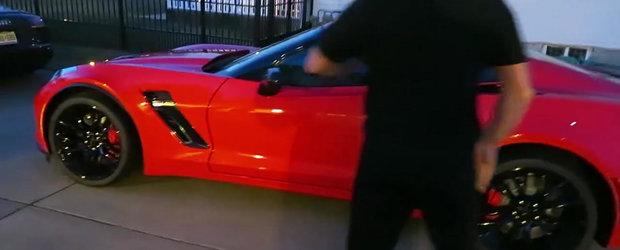 Sa tot ai copii ca el: un Corvette de 600 cp cadou pentru tatal sau care implineste 50 de ani