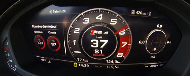 Sa tot pui bani deoparte pentru asa masina de familie. TEST DE ACCELERATIE cu noul Audi RS4 Avant