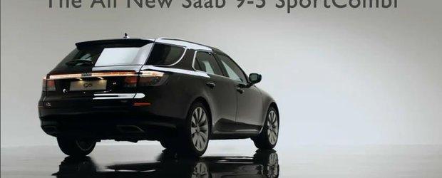 Saab reinvie! Primul clip cu noul model 9-5 SportCombi