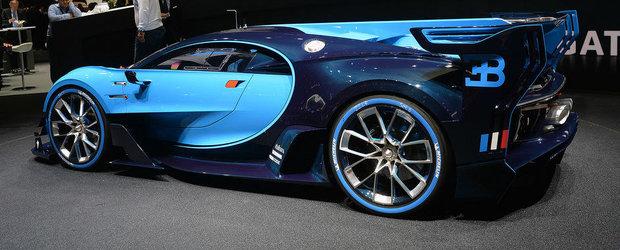 Salonul Auto de la Frankfurt 2015: Noul Bugatti Vision Gran Turismo, imagini reale