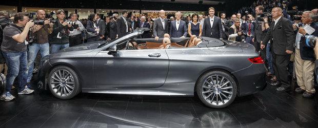 Salonul Auto de la Frankfurt 2015: Noul Mercedes S-Class Cabriolet, imagini reale