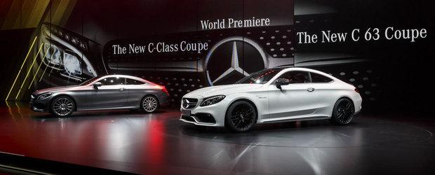 Salonul Auto de la Frankfurt 2015: Noul Mercedes C63 AMG Coupe, imagini reale