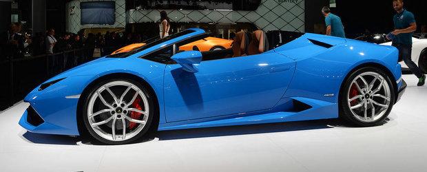 Salonul Auto de la Frankfurt 2015: Noul Lamborghini Huracan Spyder, imagini reale