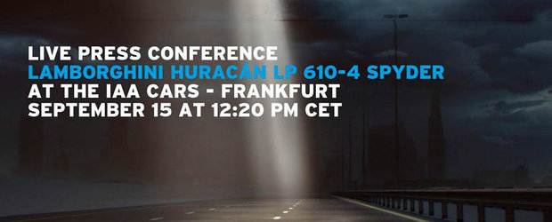 Salonul de la Frankfurt 2015: Lamborghini confirma lansarea lui Huracan Spider