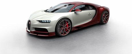 Sapte combinatii demente pentru noul Bugatti Chiron. Fibra de carbon rosie e preferata noastra!