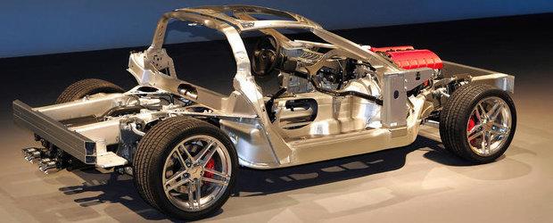 Sasiul inovator al modelului Corvette este perfectionat pe pista de curse
