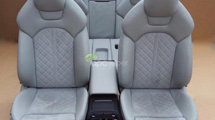Scaune Audi S7 4G - Gri cu alcantara - Interior complet A7 4G8 / RS7